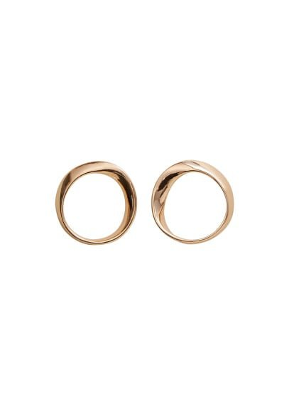 MANGO Metallic hoop earrings