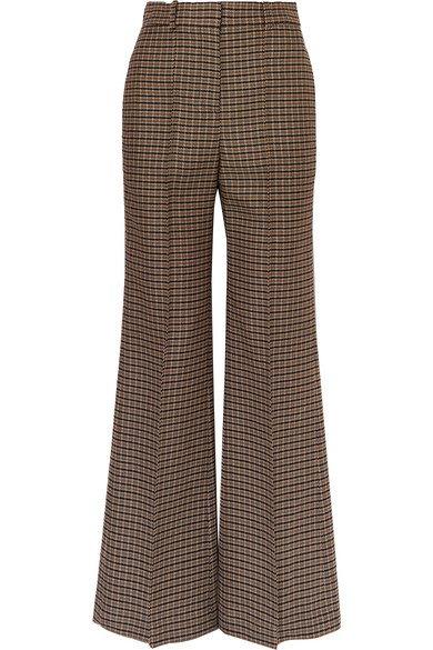 Victoria Beckham | Checked wool wide-leg pants | NET-A-PORTER.COM