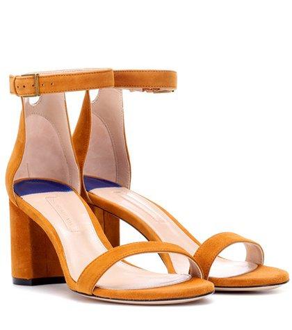 75LessNudist suede sandals