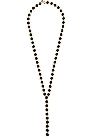 ARME DE L'AMOUR Gold-plated enamel necklace