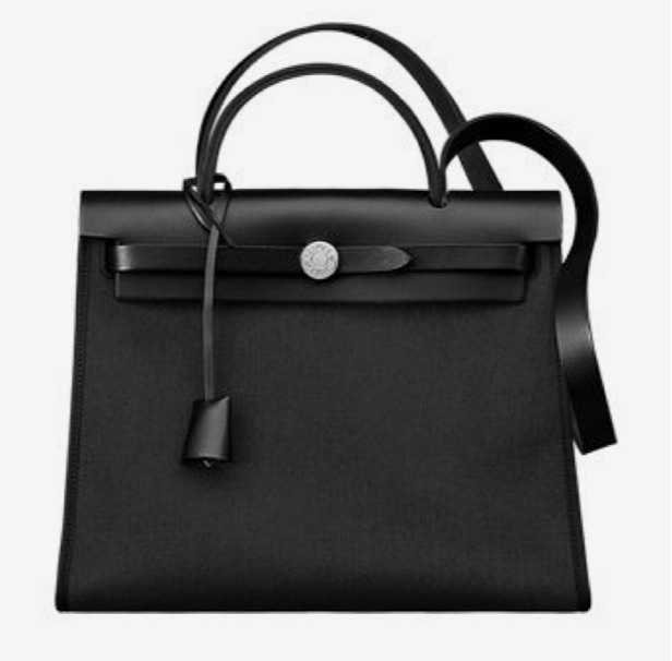 hermès black leather bag