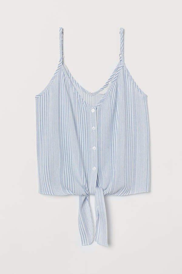 Tie-detail Camisole Top - Blue