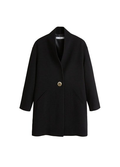 MANGO Button structured coat