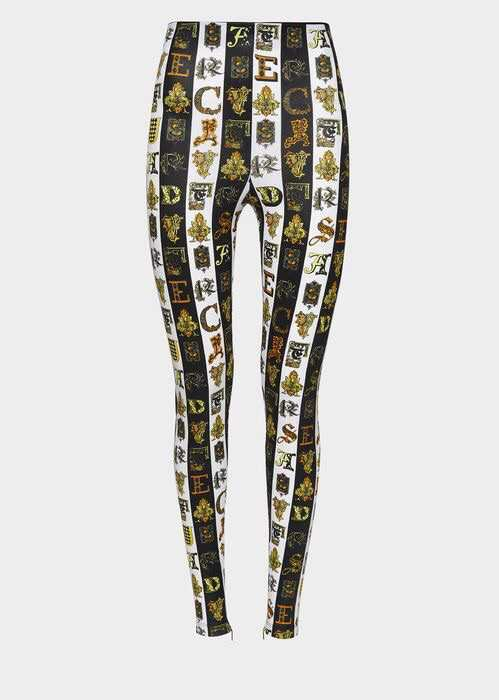 Versace - Black & white Zeus print leggings ($795)