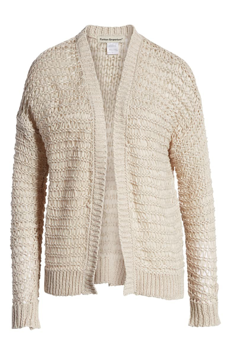 Cotton Emporium Open Stitch Cardigan tan