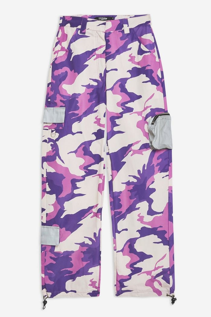 **Purple Camouflage Combat Trousers by Jaded London   Topshop