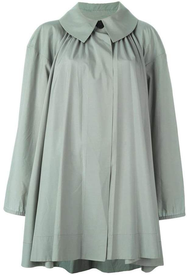 Pre-Owned cape-effect coat