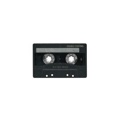 cassette black png filler music aesthetic