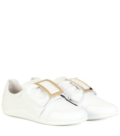 Sporty Viv' Bow leather sneakers