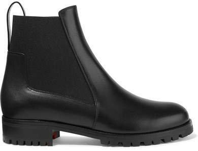 Machcroche Leather Chelsea Boots - Black