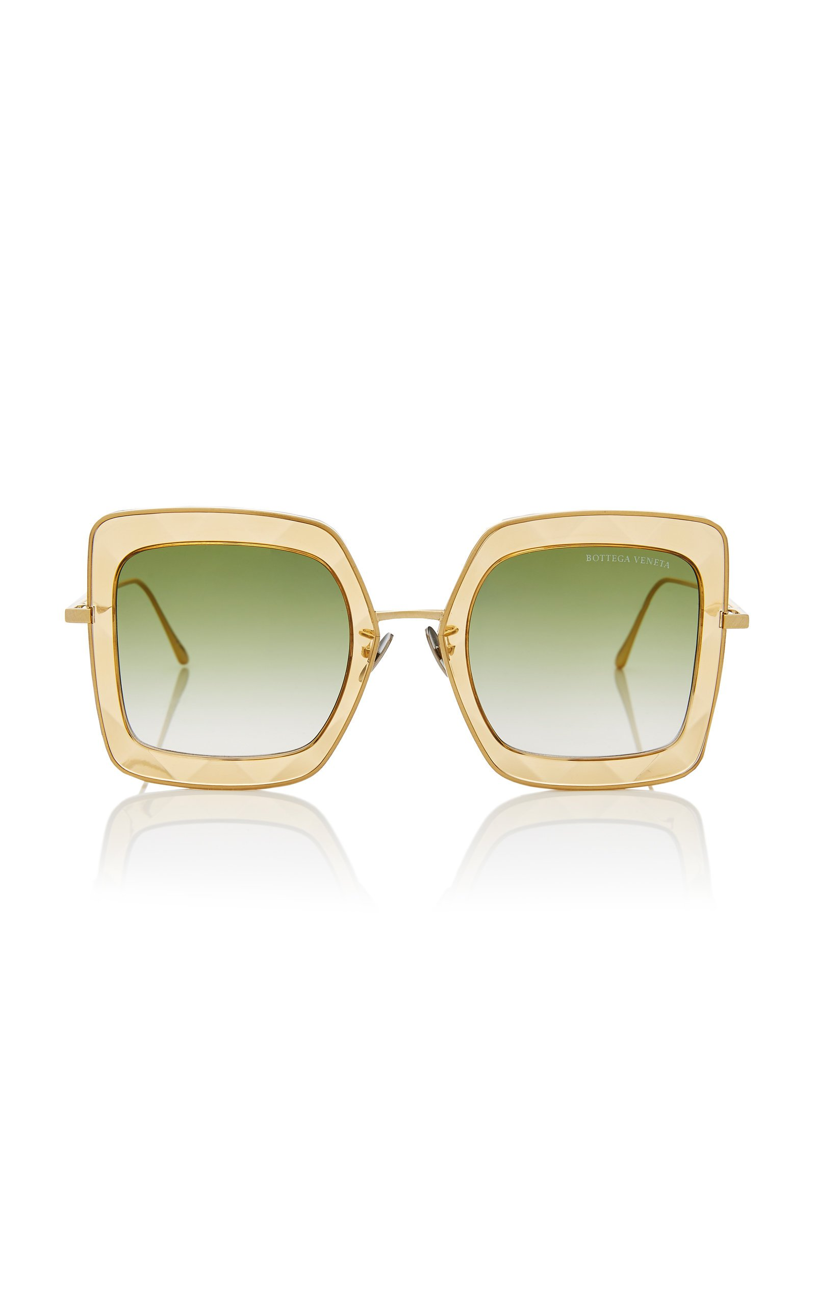 Oversized Square Sunglasses by Bottega Veneta Sunglasses | Moda Operandi