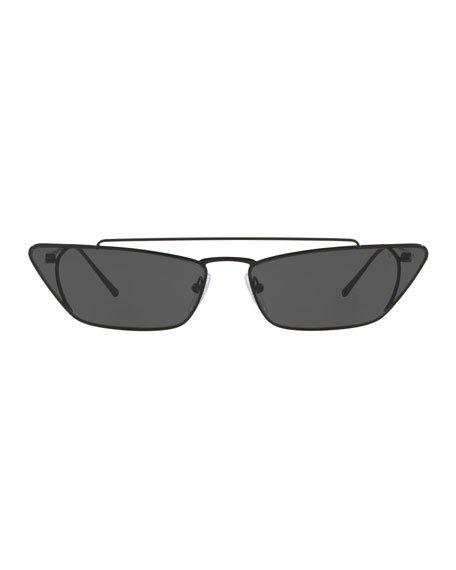 Prada Slim Cat-Eye Metal Sunglasses