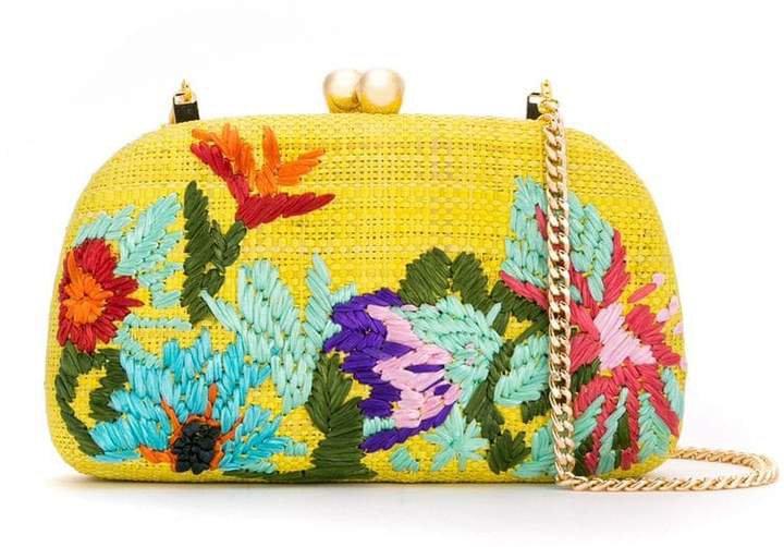 Serpui embroidered clutch