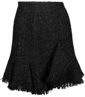 Goen.J Goen.j Frayed Metallic Boucle-tweed Mini Skirt