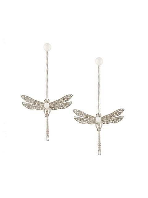 Axenoff Jewellery drop dragonfly earrings
