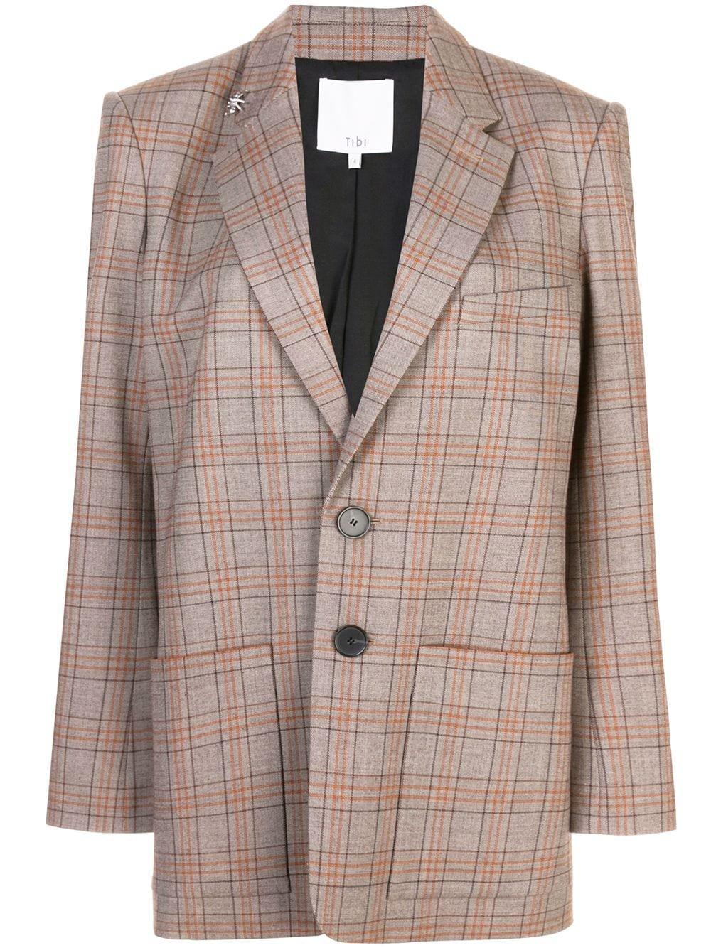 Tibi James check men's blazer $850 - Buy Online SS19 - Quick Shipping, Price