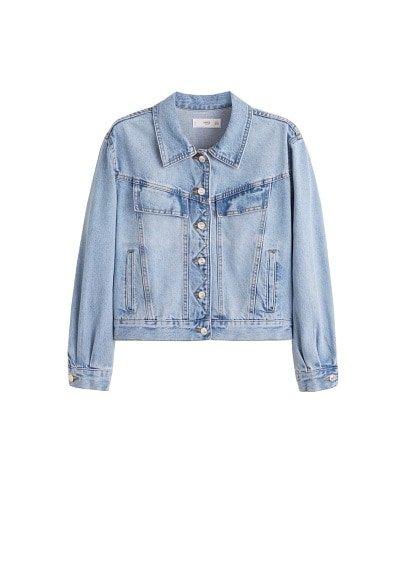 MANGO Vintage wash denim jacket