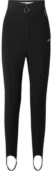 Printed Twill Skinny Pants - Black