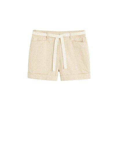 MANGO Rolled-up hem shorts