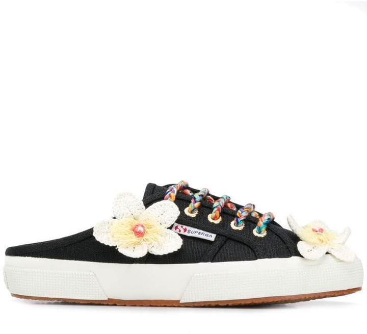 X Superga flower sneakers