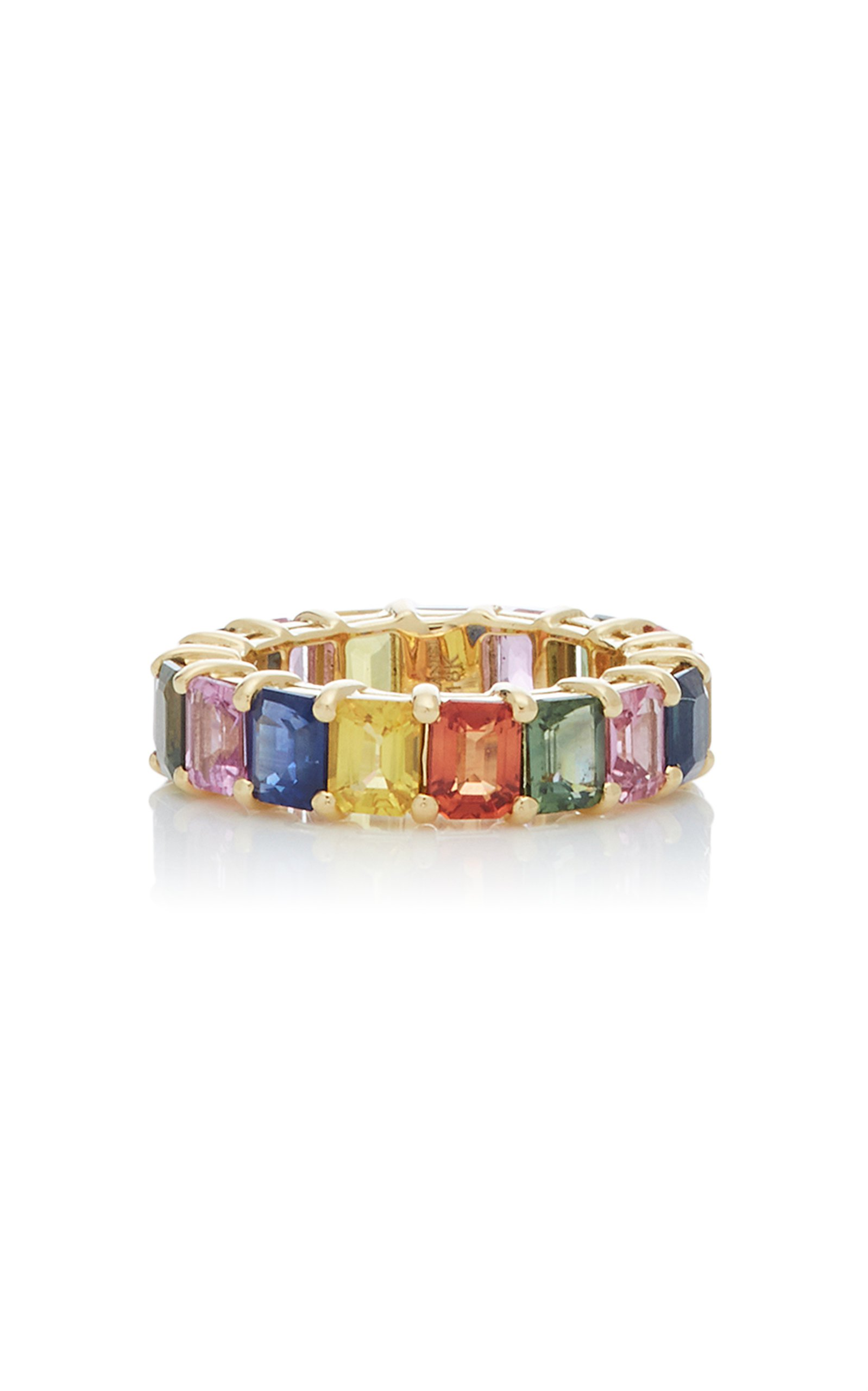 Giovane 18K Gold and Sapphire Ring