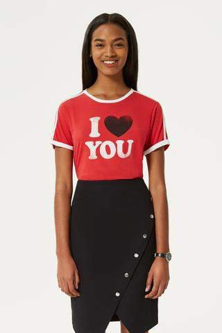 I Heart You Heather Tee