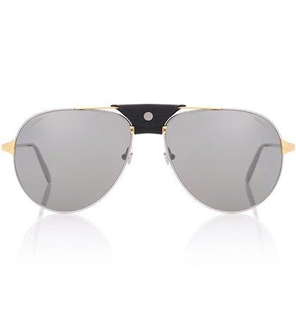 Santos de Cartier aviator sunglasses