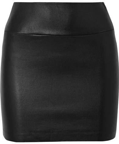 SPRWMN - Leather Mini Skirt - Black