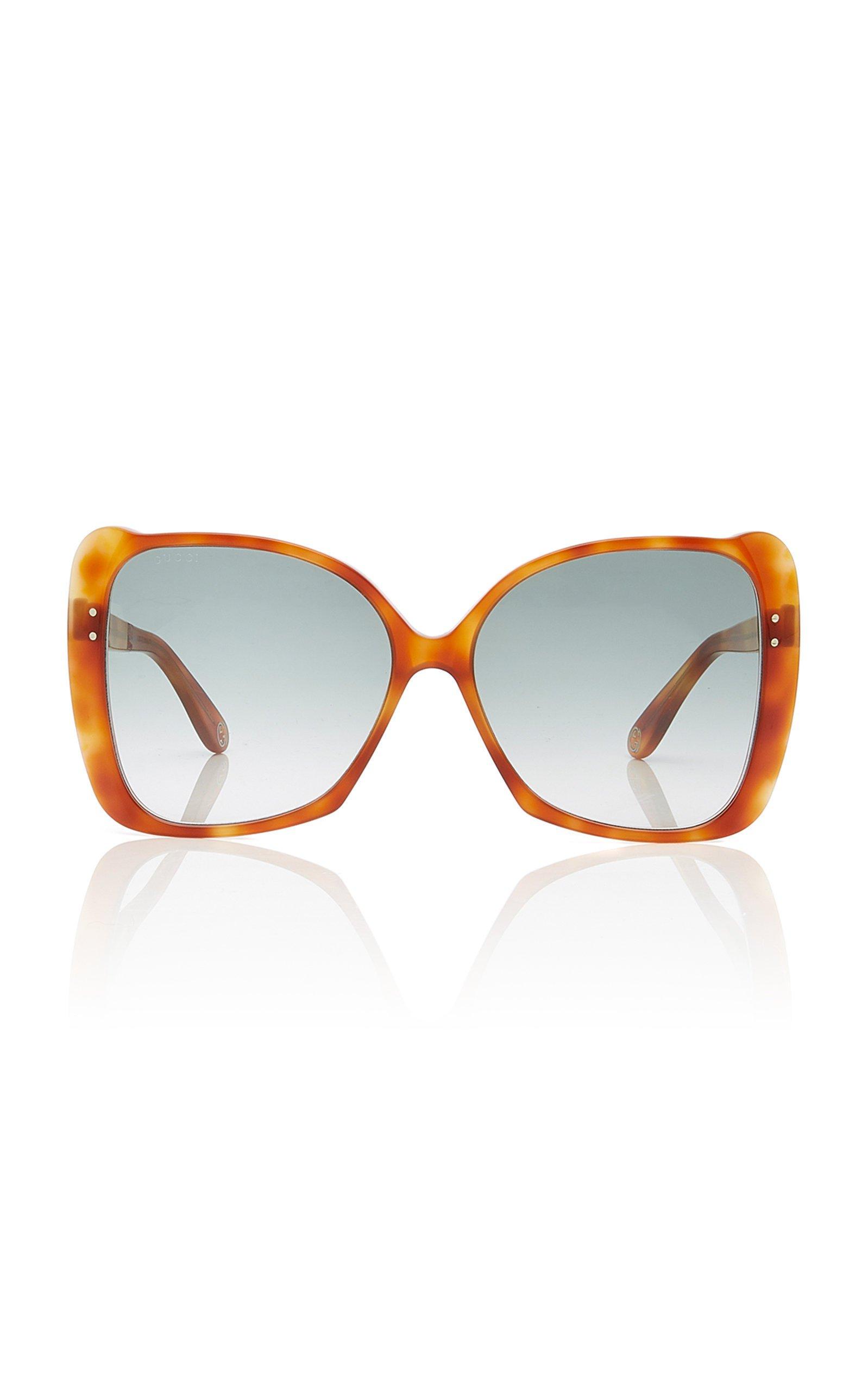 Gucci Sunglasses Butterfly-Frame Tortoiseshell Acetate Sunglasses