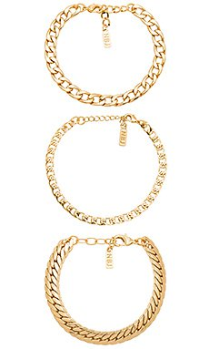 Wanderlust + Co Out Of This World Toggle Bracelet in Gold   REVOLVE