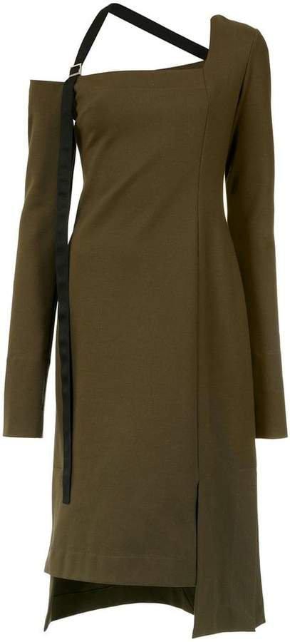 Gloria Coelho asymmetric midi dress