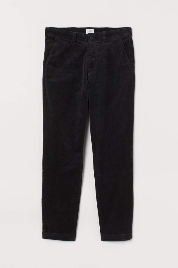 Cotton Corduroy Pants - Black