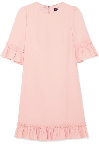Ruffled Cady Mini Dress - Pink