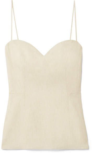 Linen Camisole - Beige