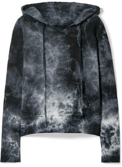 Janie Tye-dyed Cotton-jersey Hoodie - Gray