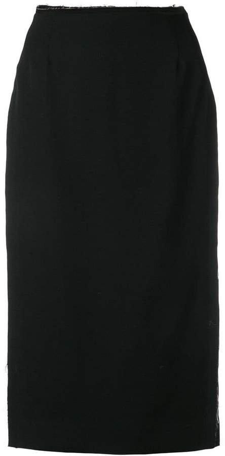 waist high split pencil skirt