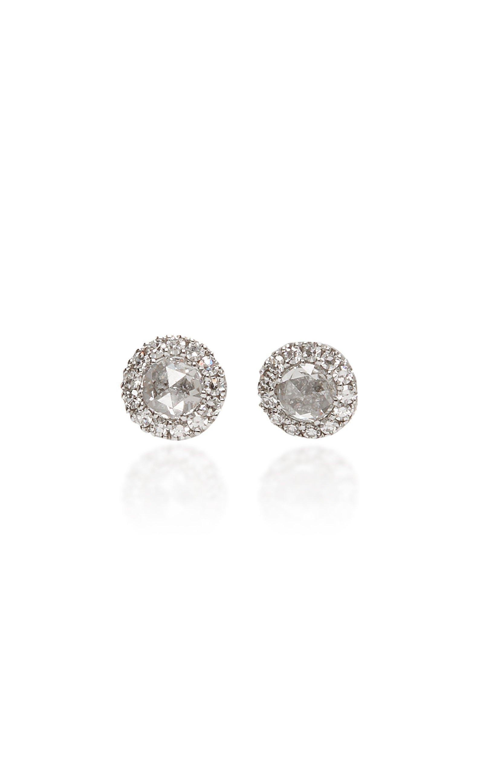 David Morris Rose Cut Earrings