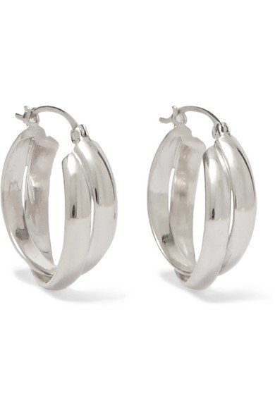 Sophie Buhai | Silver hoop earrings | NET-A-PORTER.COM