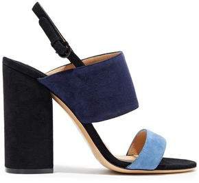 Elba Color-block Suede Slingback Sandals