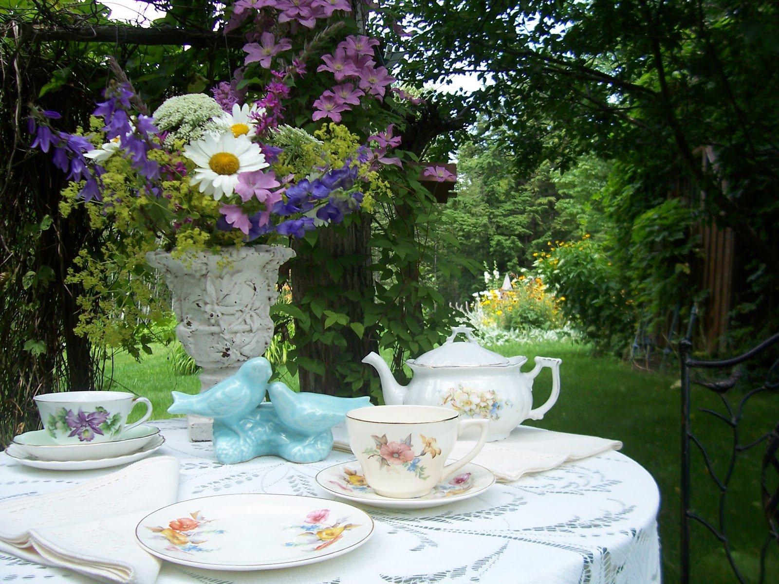victorian garden tea time - Google Search