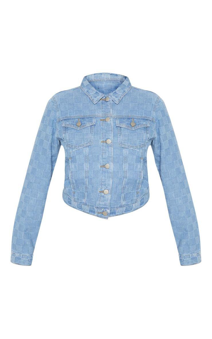 Light Wash Cropped Denim Jacket | Denim | PrettyLittleThing