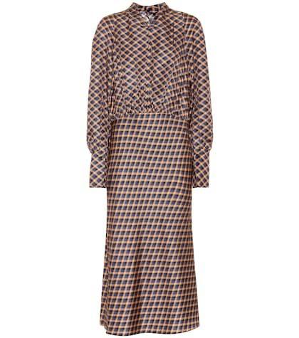 Lucian silk twill midi dress