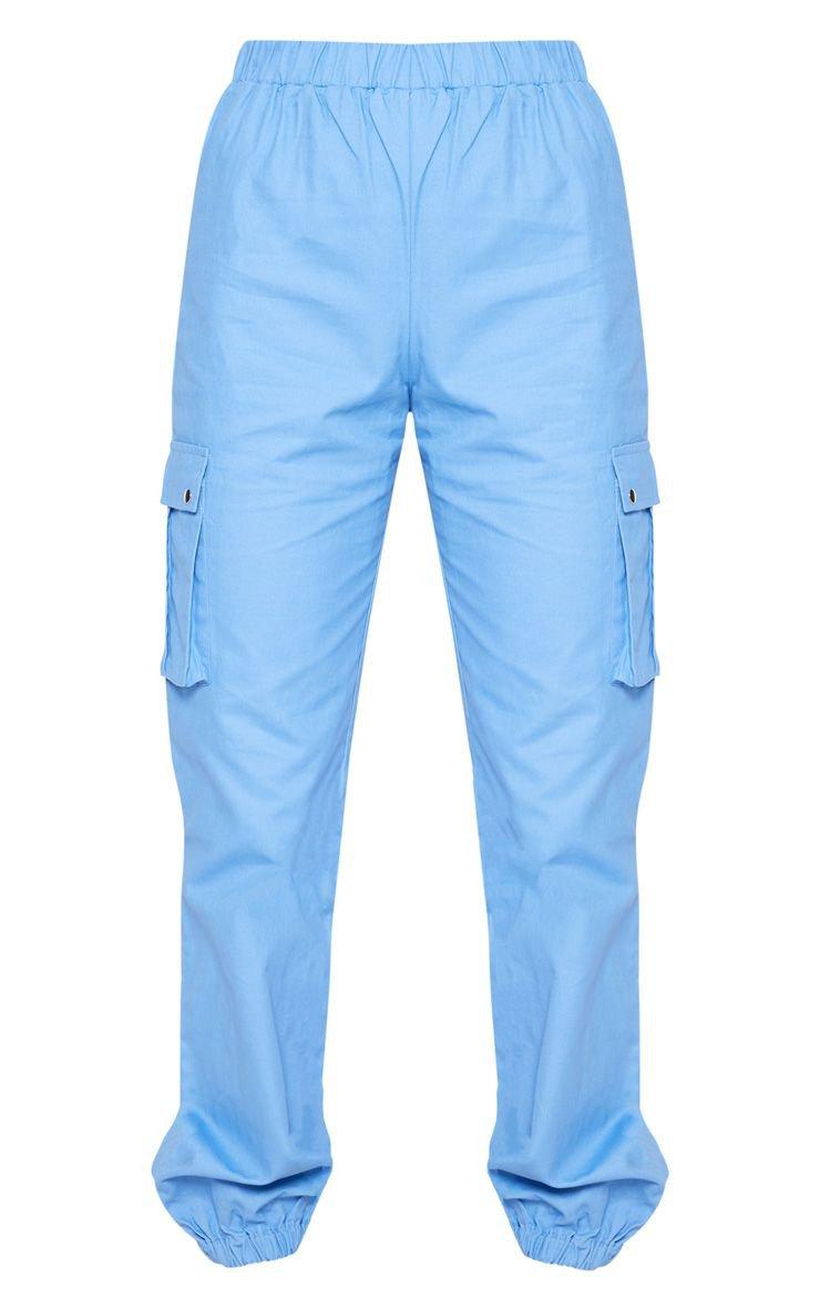 Khaki Pocket Detail Cargo Trousers   Trousers   PrettyLittleThing