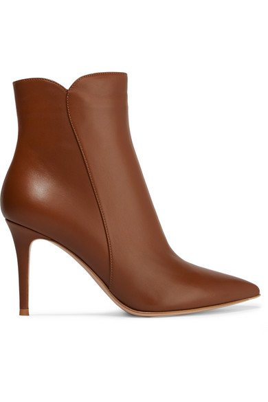 Gianvito Rossi | Levy 85 leather ankle boots | NET-A-PORTER.COM