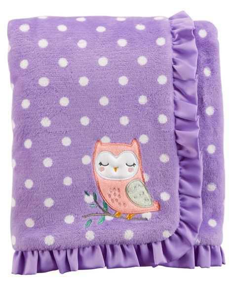 Baby Girl Owl Plush Blanket   Carters.com