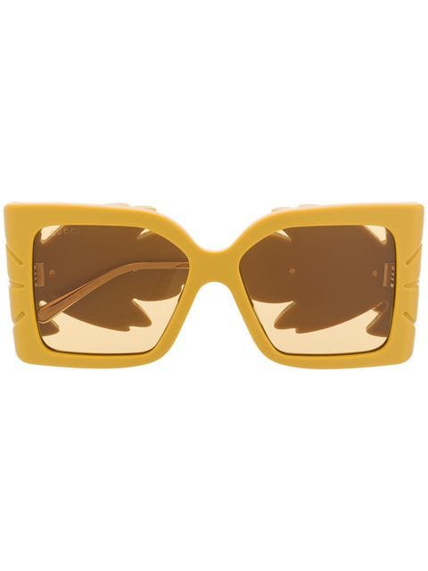 Gucci Eyewear Square Frame Sunglasses - Farfetch