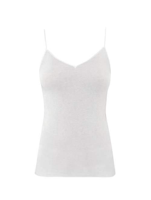 Seamless V Neck Cami Top - Womens - White