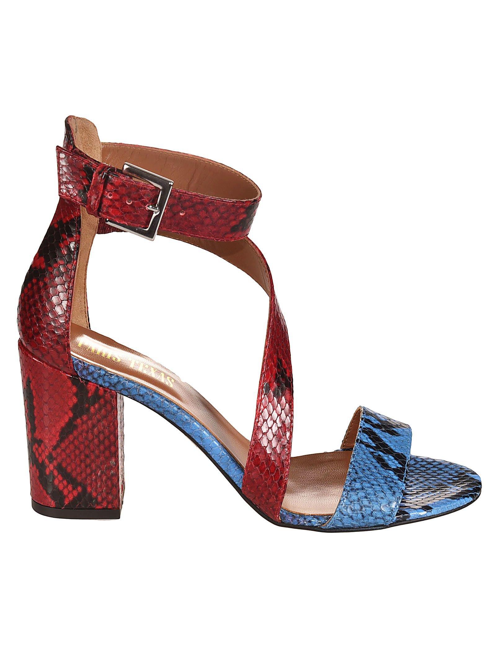 Paris Texas Python Sandals