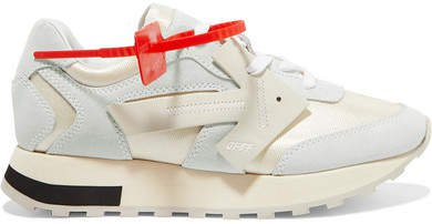 Hg Runner Mesh, Suede And Leather Sneakers