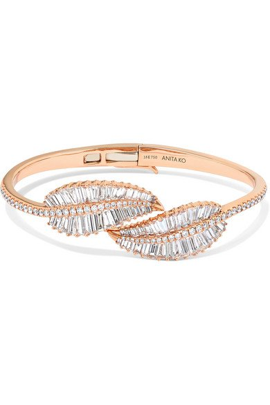 Anita Ko   Palm Leaf 18-karat rose gold diamond bracelet   NET-A-PORTER.COM